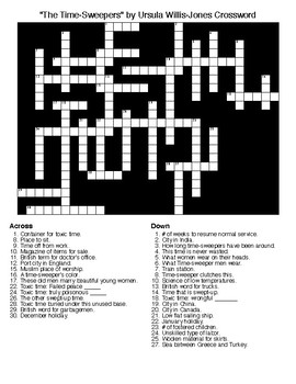 """The Time-Sweepers"" by Ursula Willis-Jones Crossword &Wordsearch"
