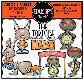 The Tortoise & The Hare (Aesop's Fable) Clip Art Bundle