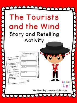 The Tourists & the Wind Story and Retelling Activity {EFL,