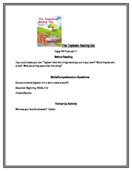 The Toytown Racing Car for Guided Reading (Rigby PM Plus L