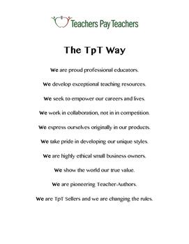 """The TpT Way (""""Premium"""")"""