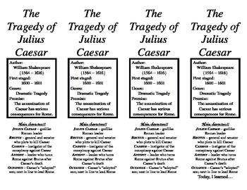The Tragedy of Julius Caesar Bookmark