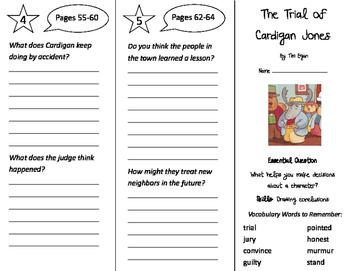 The Trial of Cardigan Jones Trifold - Journeys 3rd Grade U