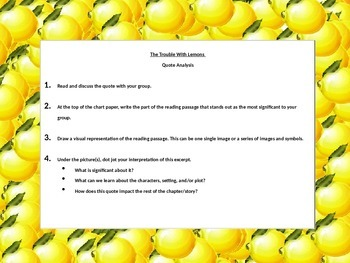 The Trouble With Lemons: Quote Analysis