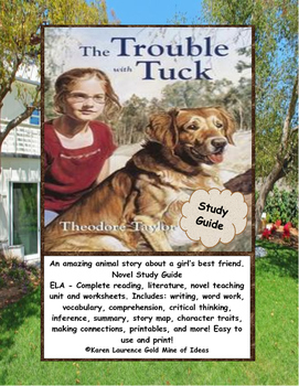 The Trouble with Tuck ELA Novel Reading Study Guide Complete!