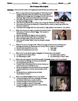 The Truman Show Film (1998) 15-Question Multiple Choice Quiz