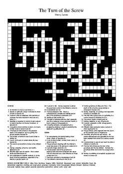 The Turn of the Screw - Review Crossword Puzzle