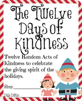 The Twelve Days of Kindness