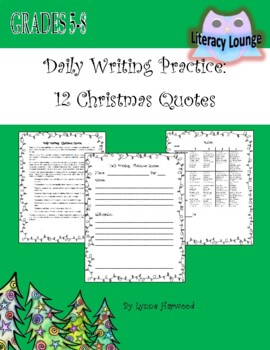The Twelve Quotes of Christmas Daily Writing Activity