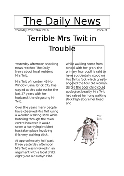 The Twits - model newspaper article