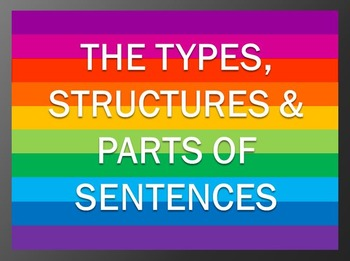 The Types, Structures and Parts of Sentences PowerPoint