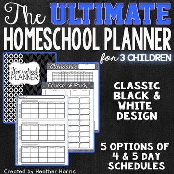 The ULTIMATE Homeschool Planner {3 children}