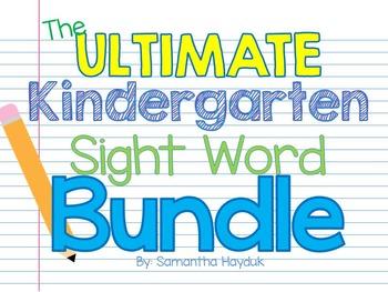 The ULTIMATE Kindergarten Sight Word Game BUNDLE {Great fo