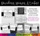 Editable Teacher Binder: COMPLETELY Black and White Theme