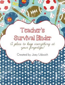 Editable Teacher Binder: Vintage All-star Theme {FREE UPDATES}