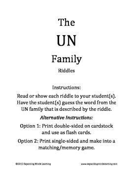 The UN Family Riddles