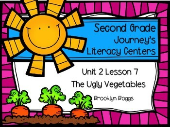 The Ugly Vegetables Journey's Literacy Centers - Second Gr