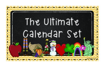 The Ultimate Calendar Set Yellow Chevron