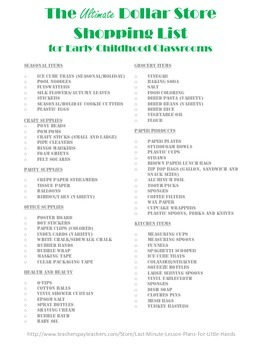 The Ultimate Dollar Store Shopping List