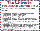 The Ultimate Dual Language Classroom Set Up Bundle: EDITABLE