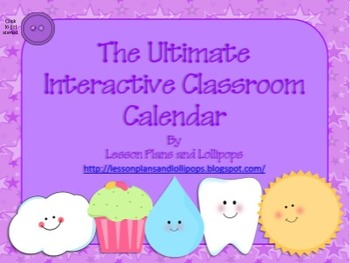 The Ultimate Interactive Classroom Calendar for Smartboards