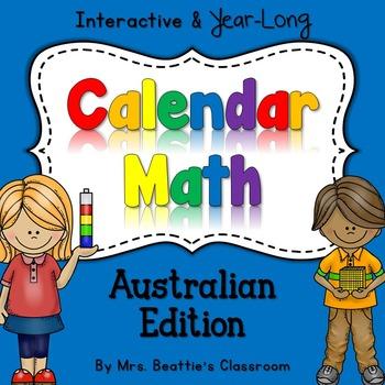 Interactive Calendar Math for SMART Board ~Australian~