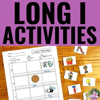 Long Vowels: LONG I Activities