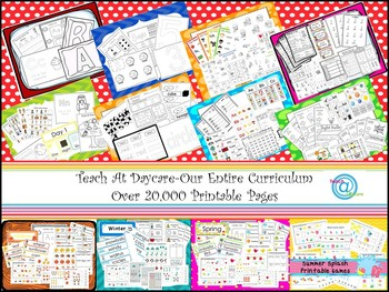 The Ultimate Printable Daycare Curriculum 8 Disc CD-R Set.