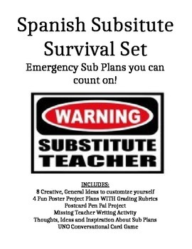 The Ultimate Spanish Substitute Plans