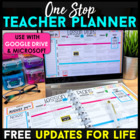 Editable Teacher Binder FREE Updates for Life - Teacher Planner & Organizer
