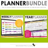 Teacher Binder - Weekly and Year Planner Bundle - Excel Version