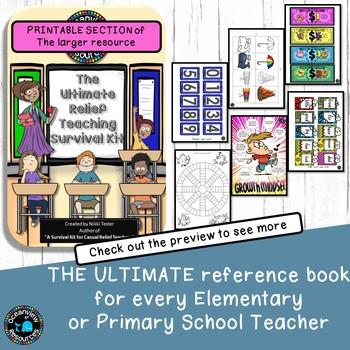 The Ultimate Substitute Teachers Survival Kit  (PRINTABLE