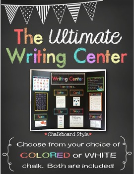 The *Ultimate* Writing Center - Chalkboard Style