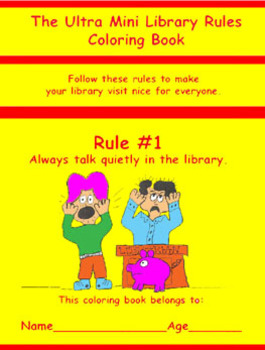 The Ultra Mini Library Rules Coloring Book
