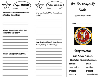 The Unbreakable Code Trifold - California Treasures 5th Gr