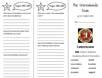 The Unbreakable Code Trifold - Treasures 5th Grade Unit 5