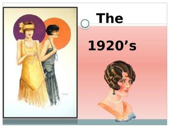 1920's  U.S. History Power Point Presentation