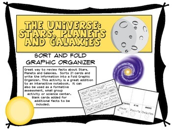 The Universe:  Stars, Planets and Galaxies Fold and Sort O