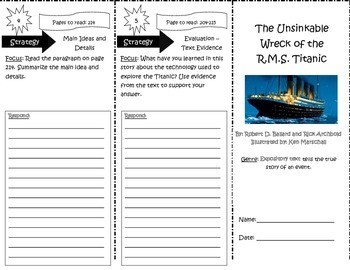 The Unsinkable Wreck of the R.M.S. Titanic Trifold Reading