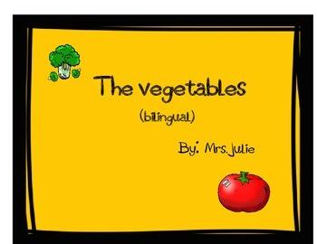 The Vegetables bilingual games PreK & Kindergarten