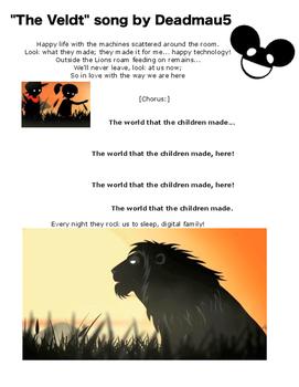 The Veldt - Short Story Worksheets