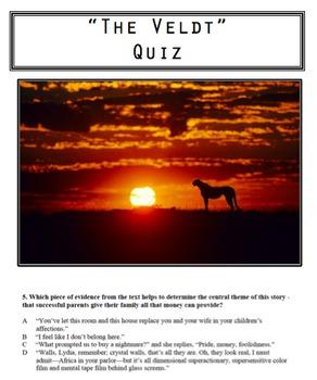 """""""The Veldt"""" Quiz"""