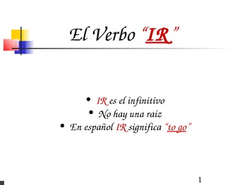 "The Verb ""Ir - to go"""