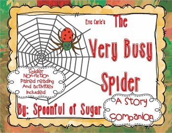 The Very Busy Spider (Story Companion with Non-Fiction com