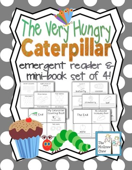 The Very Hungry Caterpillar Emergent Readers Books Set Pack of 4
