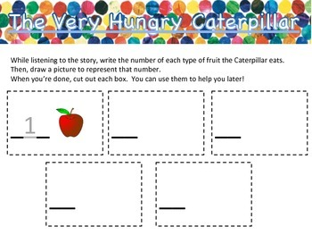 The Very Hungry Caterpillar Math Lesson