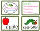 The Very Hungry Caterpillar Sentence Cut Ups
