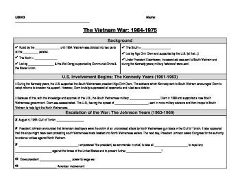 The Vietnam War Handout
