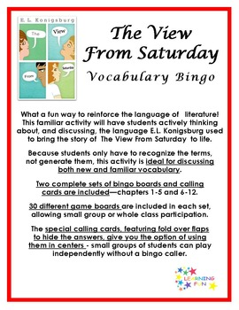 The View From Saturday Vocabulary Bingo