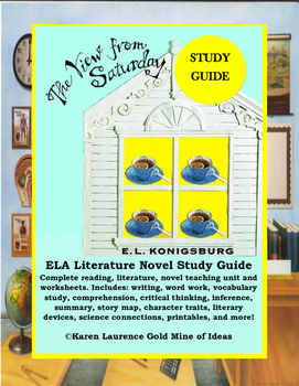 The View from Saturday by E.L.Konisburg ELA Novel Reading